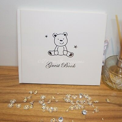 Teddy Bear Guest Book Guestbook Birthday Christening Baby Shower Naming Day