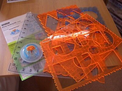 fiskars circle shape cutter with templates and mat and 3 spare