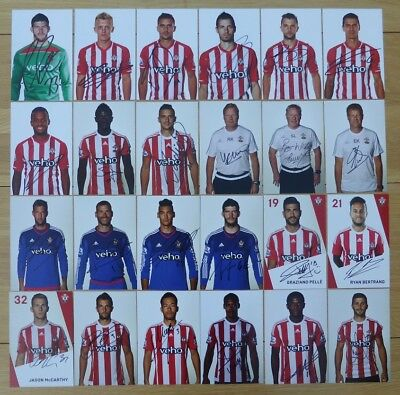 Southampton Signed Official Club Cards - Individually Priced