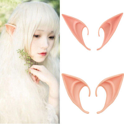 Halloween Costume Hobbit Latex Elf Ears Cosplay Party Props Creative Gift