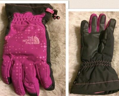 NEW The Northface Youth Single Hyvent Gloves Northface Pink