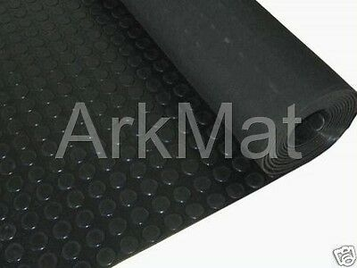 Garage Rubber Coin Stud Flooring Mat 1.2m Wide x 5m Long | Free Floor Delivery