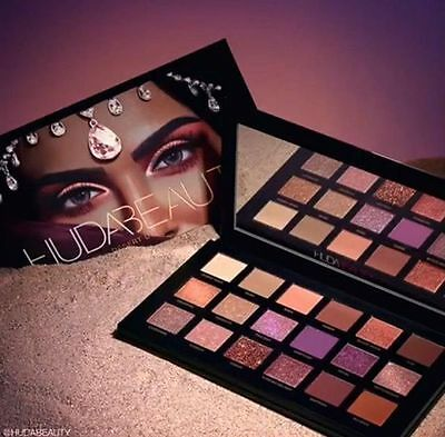 New Huda Beauty Desert Dusk Edition Textured Eye Shadows Palette 18 Colours Gift