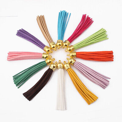 10pcs Multi-Coloured Suede Leather Tassel Pendant For Key Chains/Cellphone/Bag