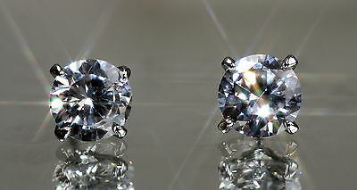 Anti Design 1.25ct Brilliant Cut 9mm Huge Created Diamond Studs -W4