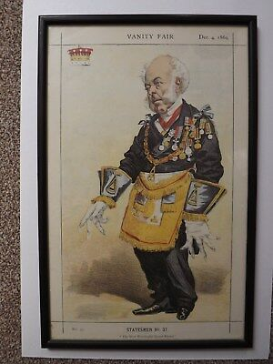 "ANTIQUE VANITY FAIR PRINT - STATESMEN  No 37  ""THE EARL OF ZETLAND"" Dec 4th 1869"