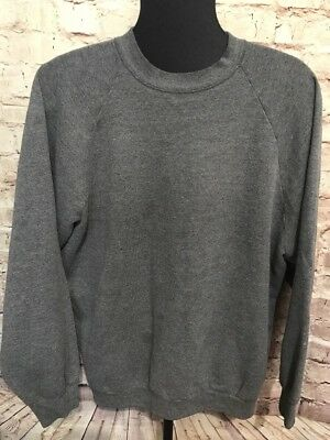 Vintage 80s Fruit of the Loom Blank Thin Sweatshirt 50 50 XXL Distressed USA