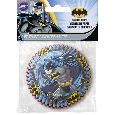 Wilton Batman Party Standard Baking Cups, 50-Count, Candy Cupcake Muffin Liners
