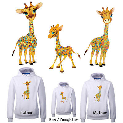 Heat Transfer Giraffe Patch Iron On Patches For Clothes DIY Decoration Printing