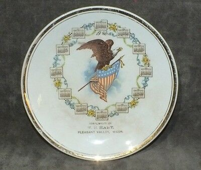 Antique 1916 W.B. Hart Pleasant Valley Whatcom WA Calendar Plate Rare MS7