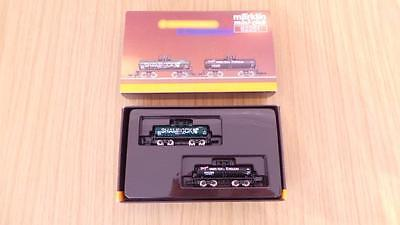 E209: Marklin 'Z' Gauge 82251 Shamrock & Union Texas Tank Wagon Set Exc & Boxed