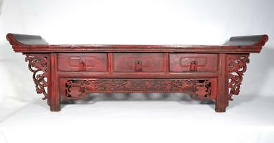 Antique Chinese Lacquered Altar Table 19th Century SALE £75 Reduction