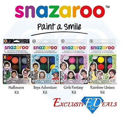 Snazaroo Children's Face Paint Make Up Kits - Halloween, Unisex, Boys & Girls