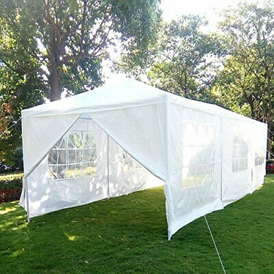 10'x30' White Canopy Party Outdoor Gazebo Wedding Tent 8 Removable Walls