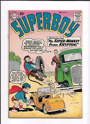 Superboy #76 ==> Fn/vf With Super-Monkey & Superbaby Classic Silver Age 1959