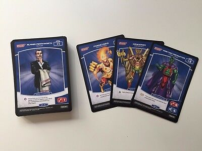 MetaX Justice League CCG (Panini) Complete Set of Common #1 to #60