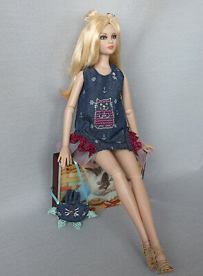 """Tonner Cami Antoinette outfit """"Pretty Kitty"""" handmade 16"""" fashion doll dress toy"""