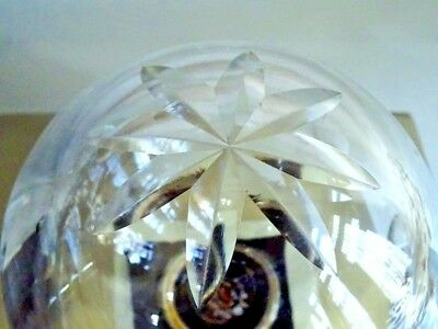 SALVAGED 1800s FRENCH CUT GLASS chandelier orb EXQUISITE PIECE part MOUTH BLOWN