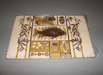 Vintage 60s 70s Tiki Bar Wear Placemats Mid Century