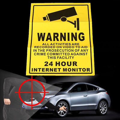 1PC Camera Video Surveillance Sign Sticker Security Notice Monitor Note Warning