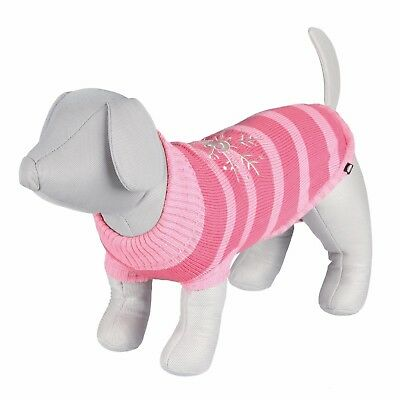 Premium Richmond Dog Puppy Pink Pullover with Snowflake Heart XS S or Medium
