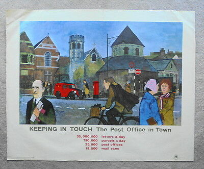 Original 1960s GPO poster KEEPING IN TOUCH, THE POST OFFICE IN THE TOWN