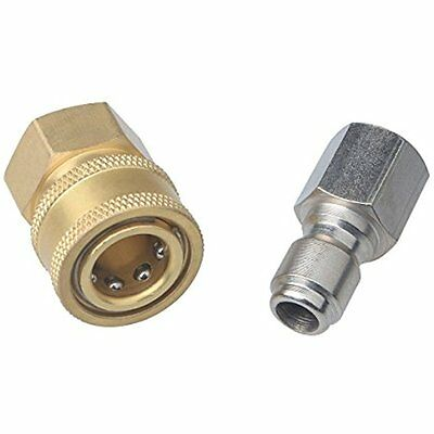 2 Pieces DUS-238 3/8 Inch Quick Connect Fittings For High Pressure Washer Hose