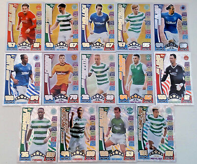 Match Attax Scottish Spfl 2017-2018 100 Hundred Clubs + Limited Editions