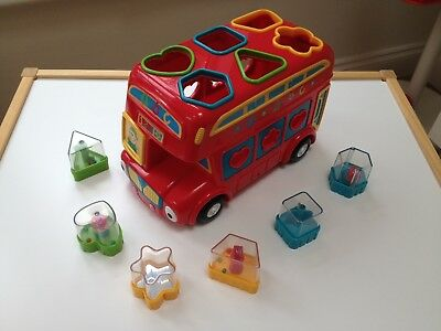 ELC Shape Sorting Red Double Decker Bus, Age 6m+