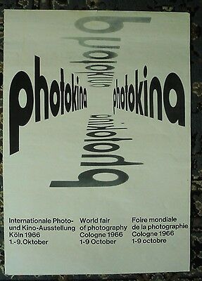 Original 1966 COLOGNE WORLD FAIR OF PHOTOGRAPHY poster light creases, small tear