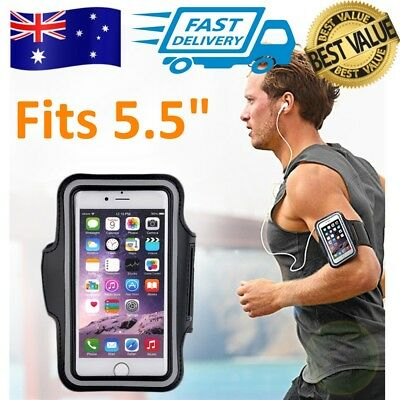 """iPhone 7 Plus Armband Jogging Gym Sport Running 5.5"""" Phone Arm Band for Samsung"""