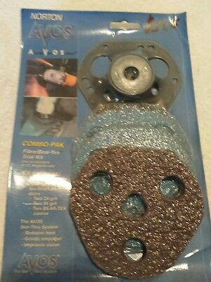 "NORTON AVOS BACK-UP PAD FOR 4½"" SURFACE GRINDING DISCS (6 included) SMEAV44T NEW"
