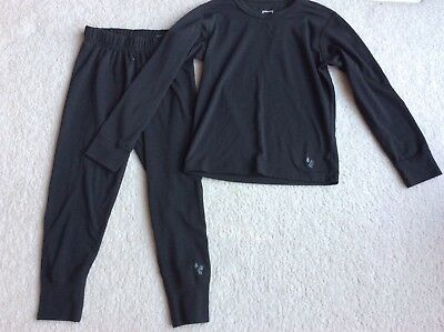 Kids REI Black Base Layer Pants And Top XS Polyester Blend 6-7 Extra Small