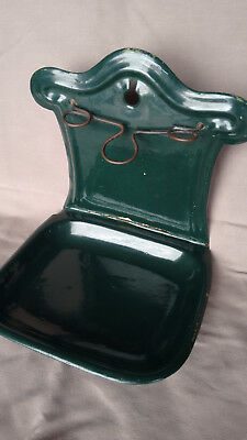 Victorian enamelled soap dish