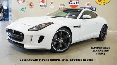 2015 Jaguar F-Type 15 F-TYPE S COUPE,PANO ROOF,NAV,BACK-UP,HTD LTH,ME 15 F-TYPE S COUPE,PANO ROOF,NAV,BACK-UP,HTD LTH,MERIDIAN SYS,20'S,24K,WE FINANCE