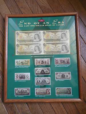 Canada Canadian One Dollar Dollars Bills Uncut Sheet 1973 Paper Money Currency