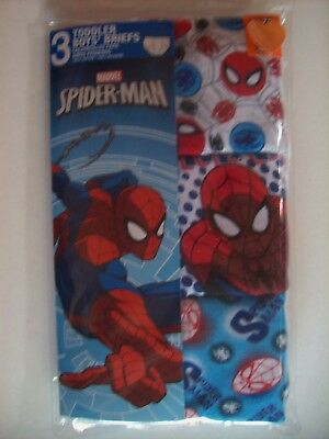 Spiderman Underwear Underpants Boys 3 Brief Pk  2T/3T 4Toddler Marvel Hero NIP