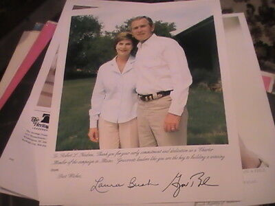 President George W Bush Laura Signed Photo Presidential Campaign Maine
