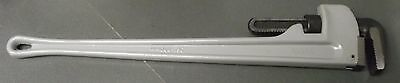 "JH Williams 13512 36"" Long Aluminum Pipe Wrench With Scale"