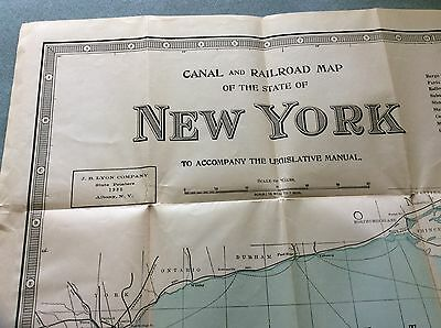 1935 Canal And Railroad Map Of New York State