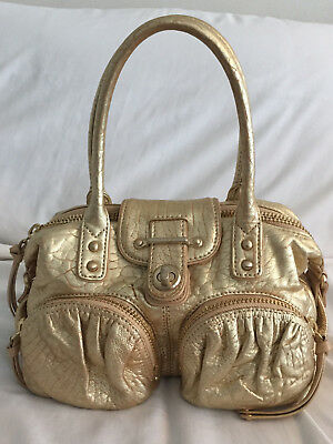 6b538874be8 BOTKIER BIANCA MEDIUM Satchel Gold Purse Bag Handbag -  19.99