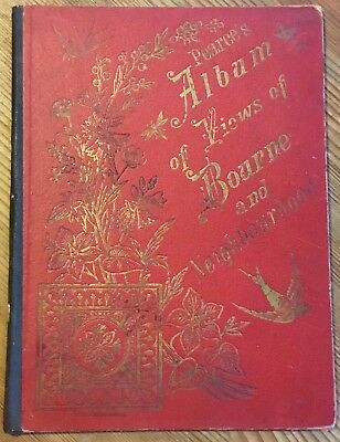 Vintage Pearce's Album Of Views Of Bourne And Neighbourhood Tourist Booklet