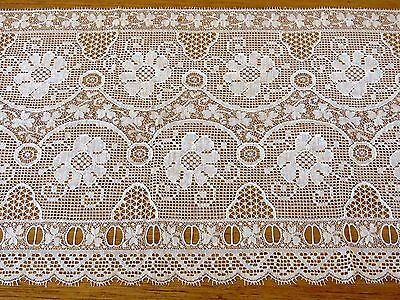 """Antique Lace Trim Insertion Ribbon Edging Flowers Clover 20"""" x 10"""" sewing crafts"""