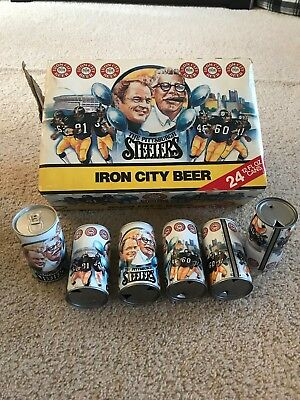 1980 Pittsburgh Steelers Iron City Chuck Noll Art Rooney NFL Football Beer Can