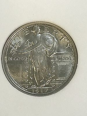 1917 Type 1 Standing Liberty 25c RNG MS66FH Beautiful Coin! Free Shipping!