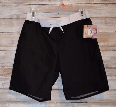 Op Boys Toddler Black Swim Board shorts Trunks Size Medium 7/8