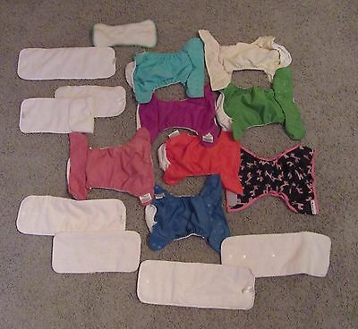 Bum Genius Diaper Covers And Liners Set Of 8 Made In USA Pre Owned Excellent