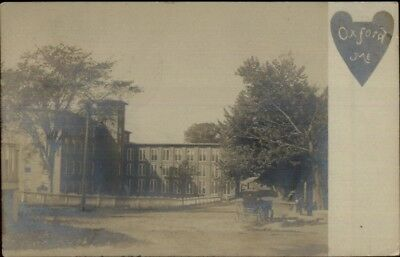 Oxford ME Mill & Street c1905 Real Photo Postcard