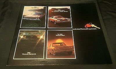 1969 PLYMOUTH AUTOMOBILES NEW MODELS ADVERTISING  32 Pages NOS Road Runner Fury