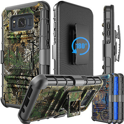 Hybrid Holster Belt Clip Case Phone Rugged Cover for Samsung Galaxy S8 Active